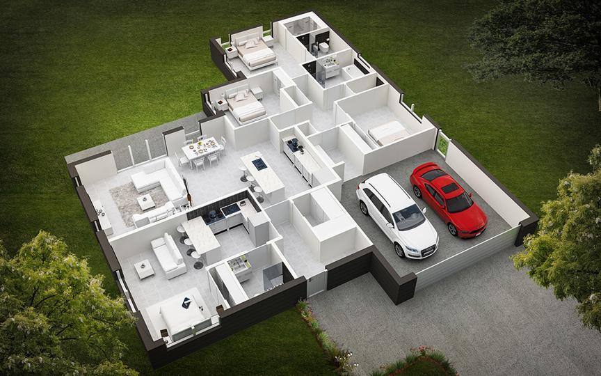 3D Floor Designs Services by Team Designs Canada