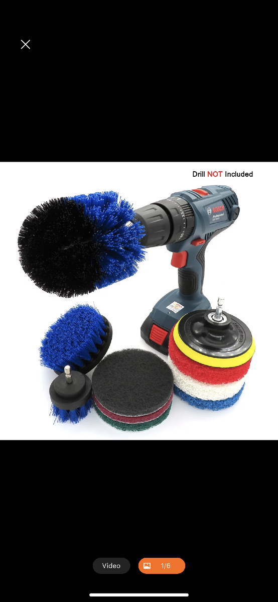 Drill Brush (Power Brush) Cleaning Attachment set $20