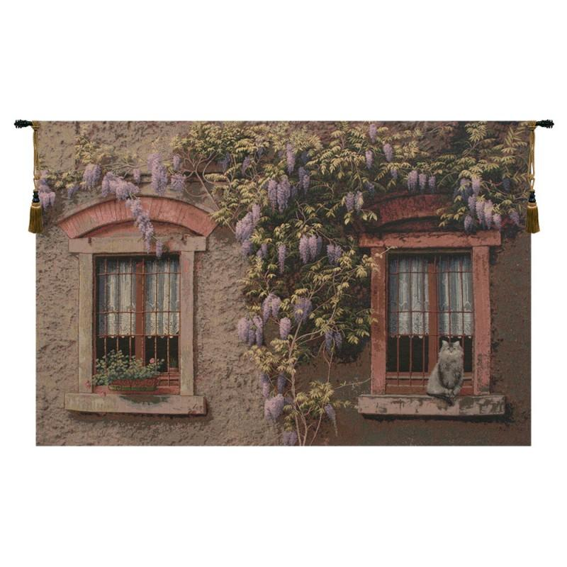 BUY WINDOWS WITH WISTERIA ITALIAN TAPESTRY WALL HANGING