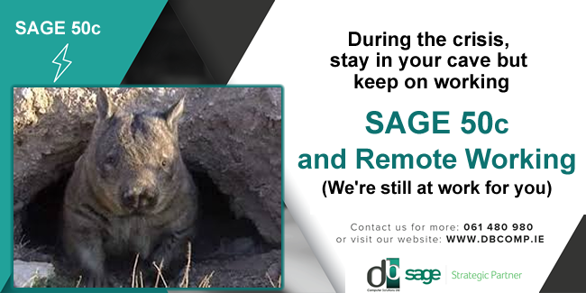 With Remote Working, use Sage 50c to manage your business