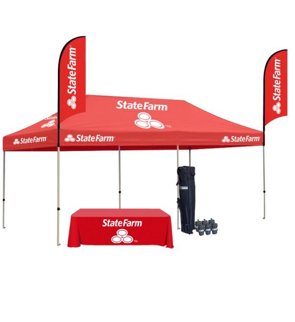 10x20 Custom Printed Canopy Tent With Graphics & Design