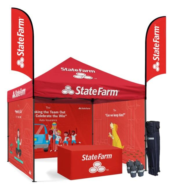 Custom 10x10 Tent With Full Color Graphics