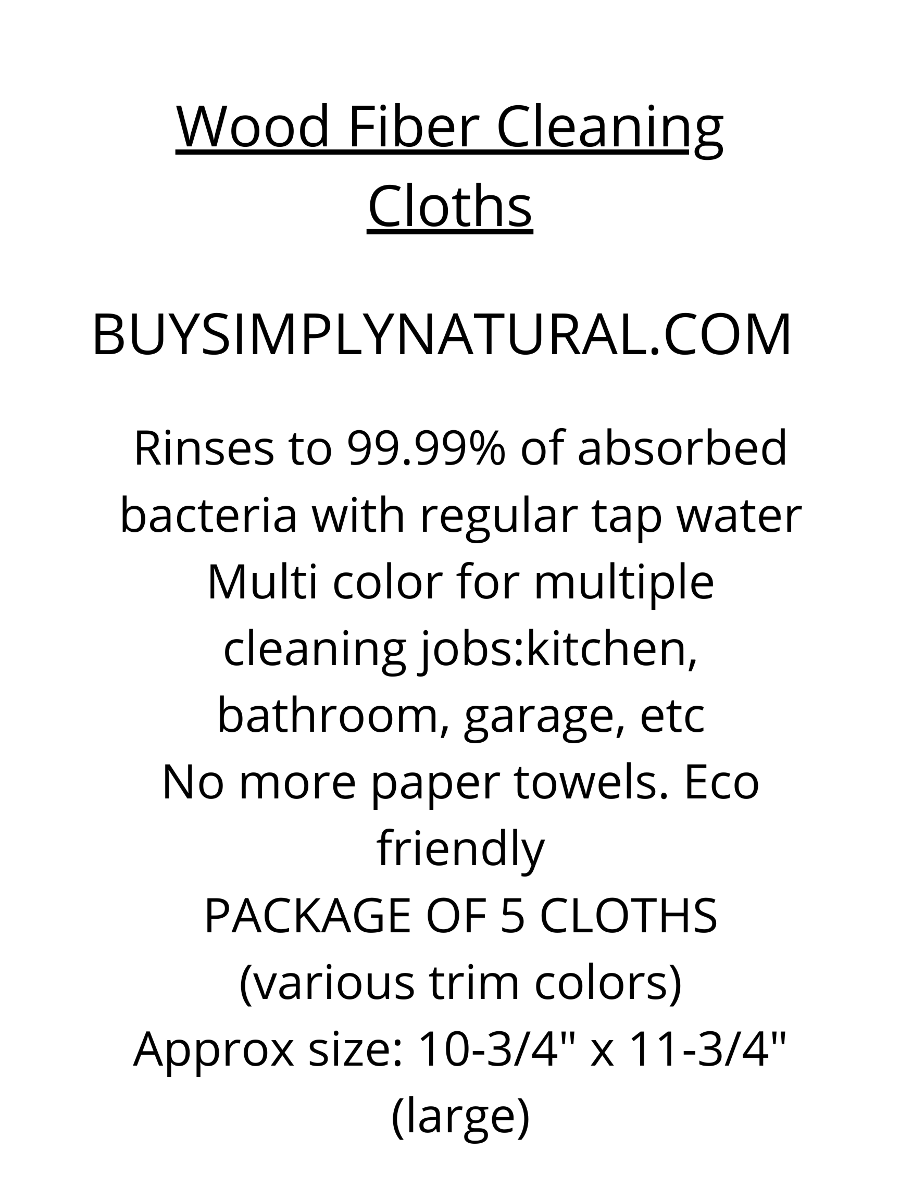 Wood fiber cleaning cloths