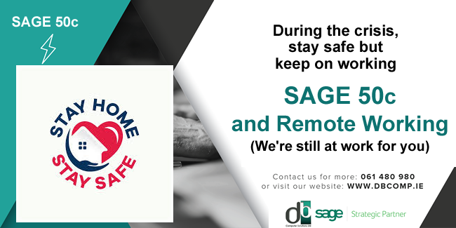 With Remote Working, Sage 50c helps to manage your business
