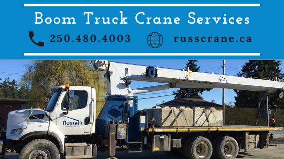 Boom Truck Services & Crane Service in Victoria BC