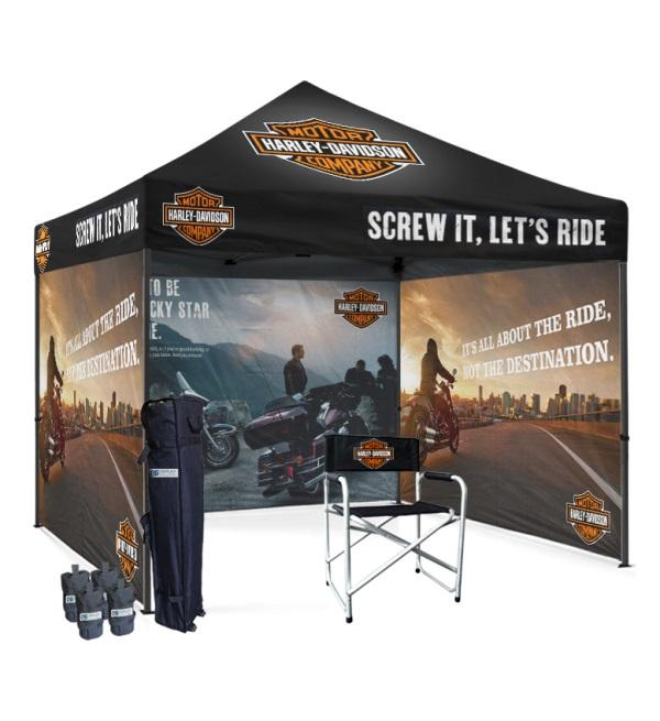 10x10 Custom Printed Canopy Tents With Sidewalls At Tent