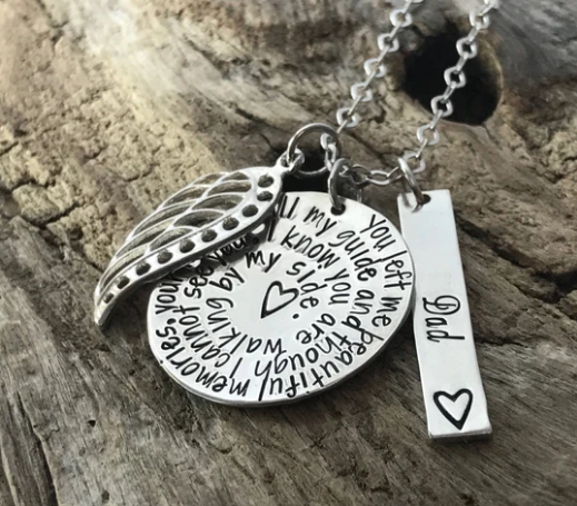 Buy Sterling Silver Memorial Necklace for Loss of Father |