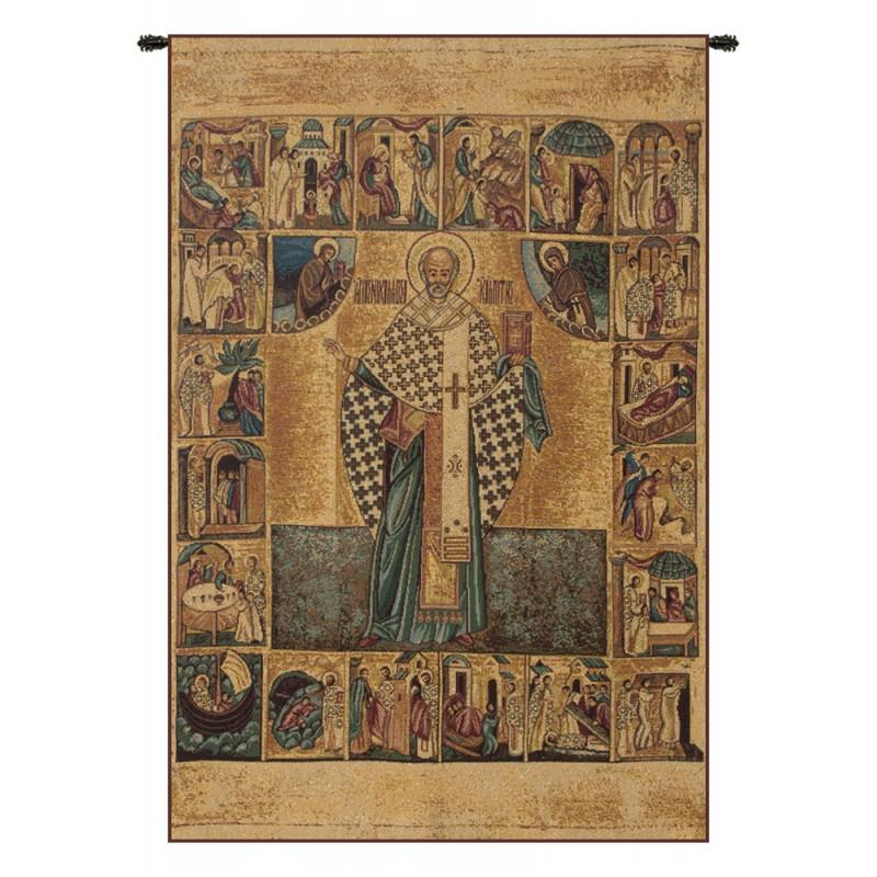 BUY SAINT NICHOLAS WITH LUREX ITALIAN TAPESTRY WALL HANGING