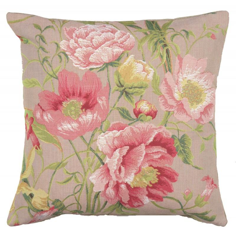BUY PEONIES 2 FRENCH TAPESTRY CUSHION