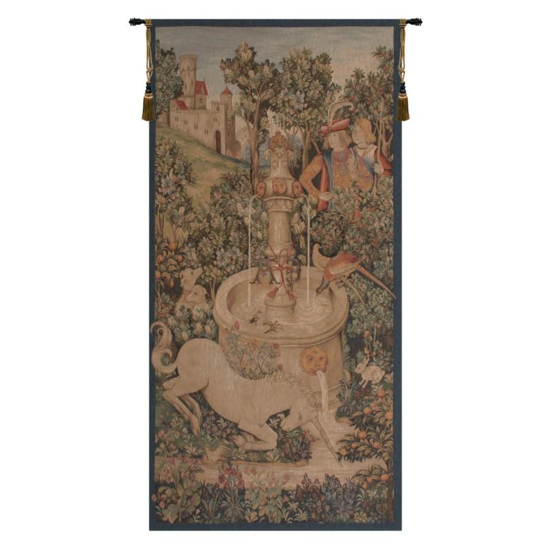 BUY PORTIERE LICORNE FONTAINE FRENCH TAPESTRY