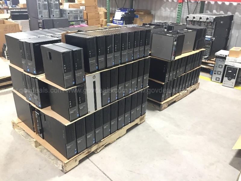 Lot of 176 Dell HP Lenovo Desktops i3/5/7 Intel Core 2 AMD