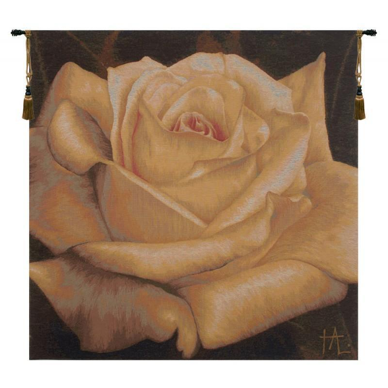 FLORAL ART- ROSE JAUNE FRENCH TAPESTRY | SAVE ON TAPESTRIES