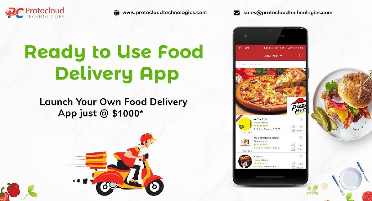 Get Readymade Food Delivery Mobile App