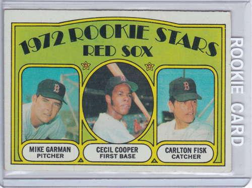 Carlton Fisk/Cecil Cooper/Mike Garman  Topps RC