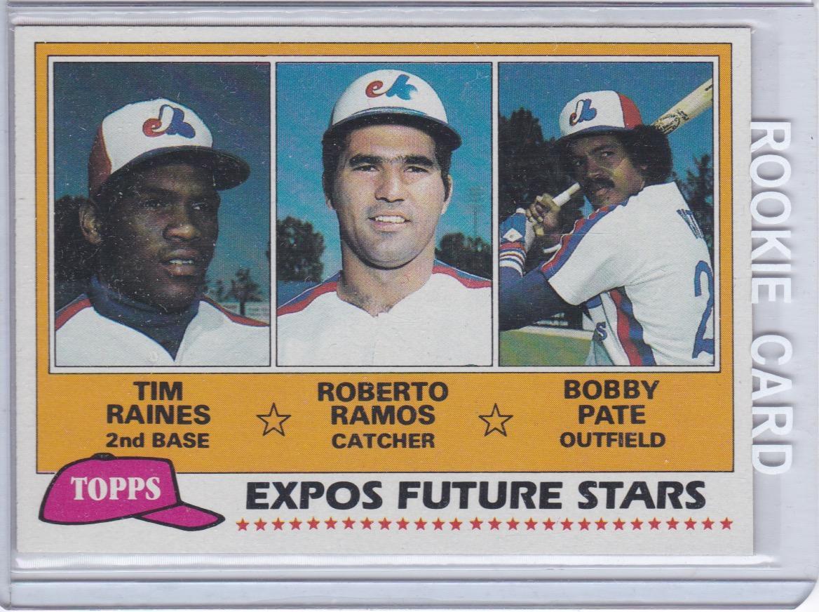 Tim Raines/Roberto Ramos/Bobby Pate  Topps RC MInt